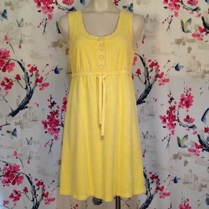 Juicy Couture Yellow Terry Dress Size L